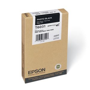 Picture of Epson T603100 UltraChrome K3 Ink 220ml Photo Black