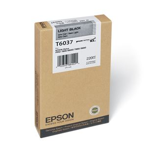 Picture of Epson T603700 UltraChrome K3 Ink 220ml Light Black