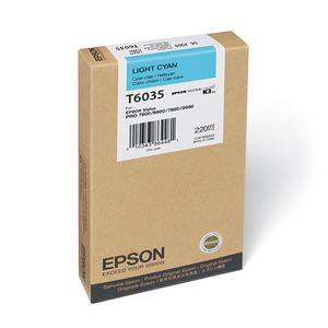 Picture of Epson T603500 UltraChrome K3 Ink 220ml Light Cyan