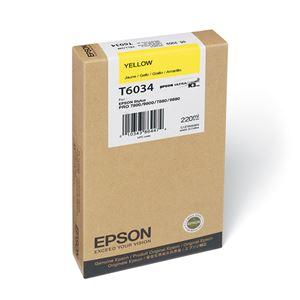 Picture of Epson T603400 UltraChrome K3 Ink 220ml Yellow
