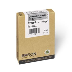 Picture of Epson T605900 UltraChrome K3 Ink 110ml Light Light Black