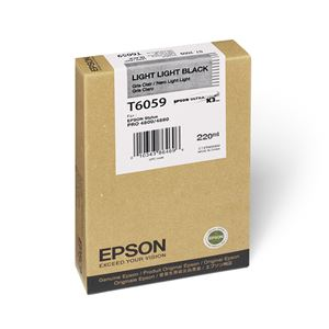 Picture of Epson T606900 UltraChrome K3 Ink 220ml Light Light Black