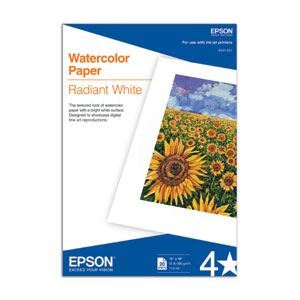 "Picture of Epson Watercolor Radiant White, 13"" x 19"", 20/sheets"