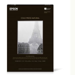 """Picture of Epson Cold Press Natural, 8.5"""" x 11"""", 25/sheets"""