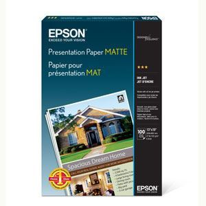 "Picture of Epson Presentation Matte Sheets, 17"" x 22"", 100/sheets"