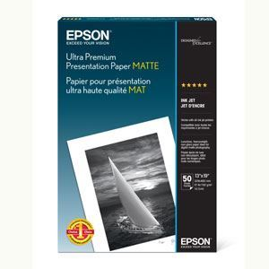 "Picture of Epson Ultra Premium Presentation Matte, 13"" x 19"", 50/sheets"