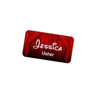 "Picture of Name Badge - 2.125"" x 3.375"" (Aluminum White Gloss)"