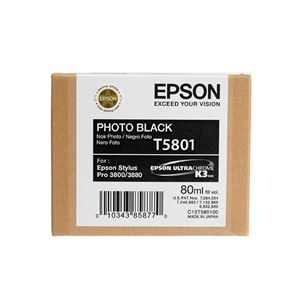 Picture of Epson T580100 UltraChrome K3 Ink 80ml Photo Black