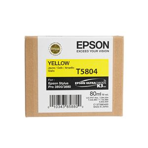 Picture of Epson T580400 UltraChrome K3 Ink 80ml Yellow