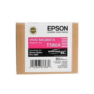 Picture of Epson T580300 UltraChrome K3 Ink 80ml Magenta