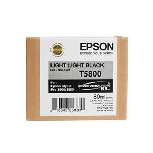 Picture of Epson T580900 UltraChrome K3 Ink 80ml Light Light Black