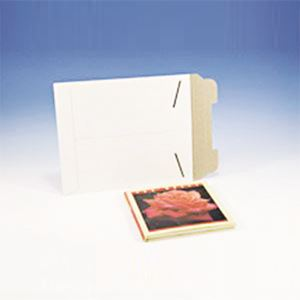 "Picture of Hardboard Mailer, w/Tab Flap, 9.75"" x 12.25"", White"