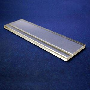 """Picture of Acrylic Block - 4"""" for Aluminum Panel Display"""