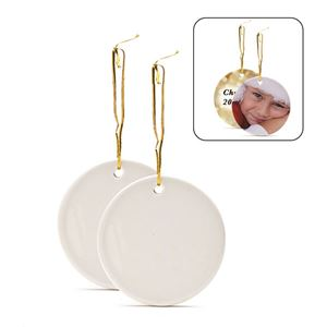 Picture of Blank Sublimation Ceramic Round Ornament