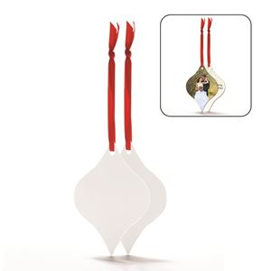Picture of Blank Sublimation Aluminum Tapered Ornament