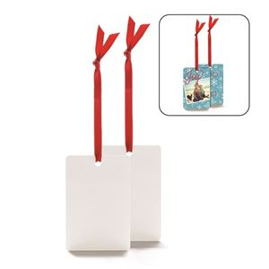 Picture of Blank Sublimation Aluminum Vertical Rectangle Ornament