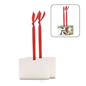 Picture of Blank Sublimation Aluminum Horizontal Rectangle Ornament