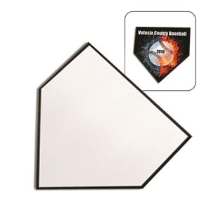 """Picture of Blank Dye Sub Black Home Plate Plaque - 10"""" x 10"""""""