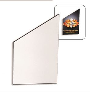 "Picture of Blank Sublimation Black Streamline Peak Plaque - 4"" x 5.75"""
