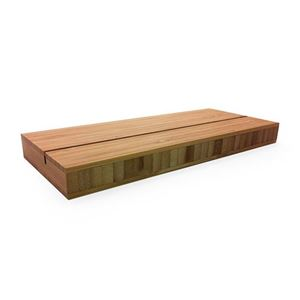 """Picture of Bamboo Block for Aluminum Panel Display - 10"""""""