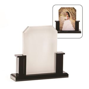 "Picture of Blank Sublimation Photo Acrylic Block with Stand - 6.6"" x 7"" x 2"""