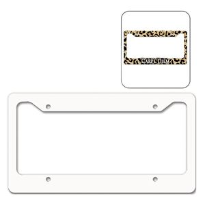 picture of blank dye sub license plate frame white gloss - White License Plate Frame