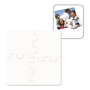 Picture of Blank Sublimation Coaster Puzzle with Cork Back