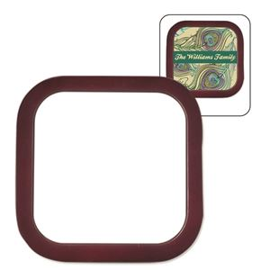 Picture of Square Mahogany Coaster with FRP Insert