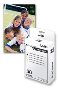 "Picture of HiTi S420 4"" x 6"" Media Kit - 50 prints"