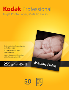 "Picture of Kodak Pro Inkjet Paper, 8.5"" x 11' - Metallic"