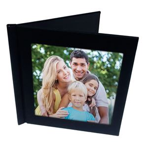 "Picture of 8""x8"" Pinchbook — Black Cloth with Slide-In Cover"