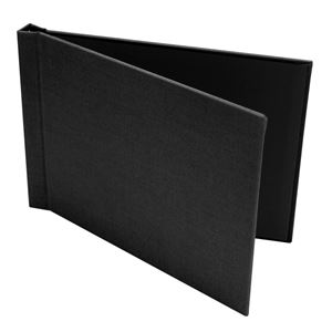 "Picture of 8.5""x11"" Pinchbook — Landscape, Black Leather"