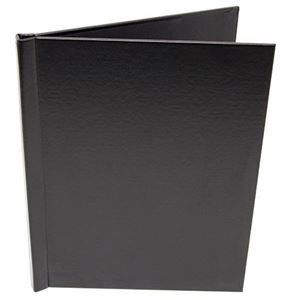 "Picture of 8.5""x11"" Pinchbook — Portrait, Black Leather"