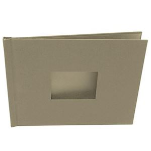 "Picture of 8.5""x11"" Pinchbook — Landscape, Taupe Cloth"