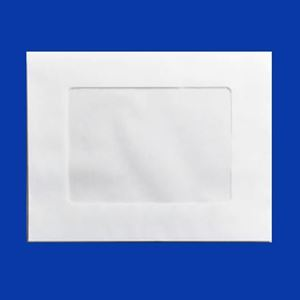"Picture of Plain White Envelope with window, 6.5"" x 8.5"""