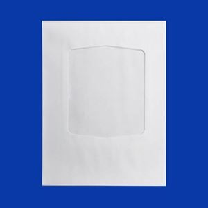 "Picture of Plain White Envelope with window, 8.75"" x 11.125"""
