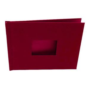 "Picture of 8.5""x11"" Pinchbook — Red Cloth"