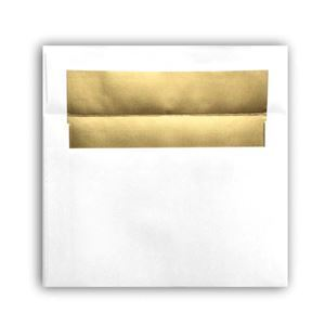"Picture of Photo Envelope, Gold Foil Lined, holds 5"" x 7"" prints"