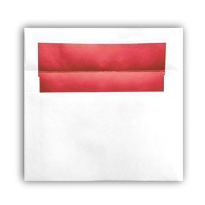 "Picture of Photo Envelope, Red Foil Lined, holds 5"" x 7"" prints"