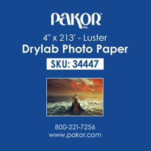 "Picture of Pakor Drylab Paper, 4"" x 213' - Luster (2/cs)"