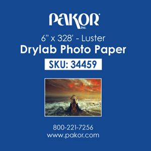 "Picture of Pakor Drylab Paper, 6"" x 328' - Luster (4/cs)"