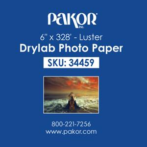 "Picture of Pakor Drylab Paper, 6"" x 328' - Luster (4/cs)"