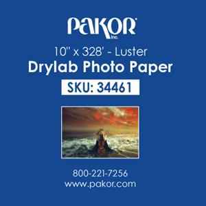"Picture of Pakor Drylab Paper, 10"" x 328' - Luster (2/cs)"