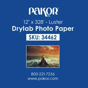 "Picture of Pakor Drylab Paper, 12"" x 328' - Luster (2/cs)"