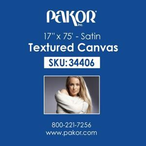 "Picture of Pakor Textured Canvas, 17"" x 75' - Satin (17 mil)"