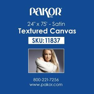 "Picture of Pakor Textured Canvas, 24"" x 75' - Satin (17 mil)"