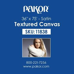 "Picture of Pakor Textured Canvas, 36"" x 75' - Satin (17 mil)"
