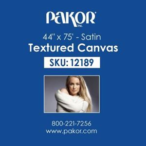 "Picture of Pakor Textured Canvas, 44"" x 75' - Satin (17 mil)"