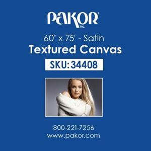 "Picture of Pakor Textured Canvas, 60"" x 75' - Satin (17 mil)"