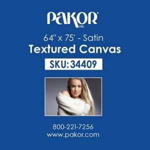 "Picture of Pakor Textured Canvas, 64"" x 75' - Satin (17 mil)"